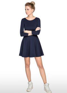 Купить ПРИТАЛЕННОЕ ТРИКОТАЖНОЕ ПЛАТЬЕ (LT5O16) в интернет-магазине одежды O'STIN