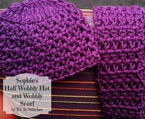 The Half Wobbly Hat and Wobbly Scarf Set can be made in just a few hours with 3 skeins of Lionbrand Hometown Solids or other super bulky yarn. I designed this hat and scarf for one of my students whose name I drew for Secret Santas this year!
