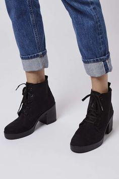 BEST Beaumont Lace-Up Boots - Topshop