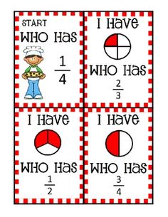 This file contains 24 I Have, Who Has cards with a fun Pizza theme that reviews fractions. Students must be able to read fractional numbers and det...