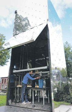 Mobile 3D-Printed House Factory in a Shipping Container