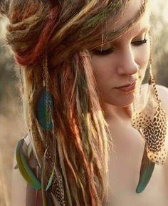 pics of colored dreadlocks   Colored strands of dreadlocks   ♥Colorful Hair♥