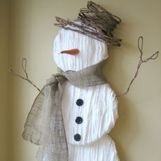 Cute Yarn Snowman Decoration