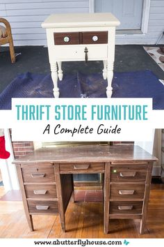 This 5 step guide to buying thrift store furniture will ensure you purchase the perfect piece every time! #ThriftStoreFurniture Thrift Store Furniture, Selling Furniture, Furniture Shopping, Restore Store, Habitat For Humanity Restore, Thrift Store Shopping, Home Projects, Garden Projects, Butterfly House
