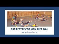 Drie estafettevormen met bal in de gymles - De Spelles - www.despelles.nl - YouTube Basketball Court, Sports, Physical Education Activities, Hs Sports, Sport