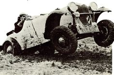"An Allard Special driven by Ken Hutchinson in 1937 with a Lincoln V12 Engine. After the success of the Allard Specials in ""mud"" there began a demand for repeat production until the beginning of WWII. Production ceased and Allard was involved in repairs of Ford Trucks and Jeeps. With left over parts when the war ended Allard begain reproducing cars, this time with a lower street chassis and aggressive front grills."