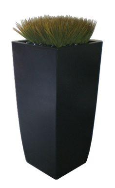 "Toulan  Planter Black 18"" Large Outdoor Planters, Tall Planters, Planter Pots, Container Gardening, Backyard Ideas, Garden Ideas, Motor Activities, Contents, Base"
