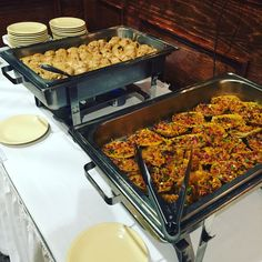Swedish Meatballs & Cheddar & Bacon Potato Skins! Creations for a Stationed Appetizer Party by Chef Rob Seeberger at Olivia's!