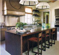 kitchen design metal wood  | Shape Kitchen Decoration With Steel Kitchen Cabinet Solid Wood Kitchen ...