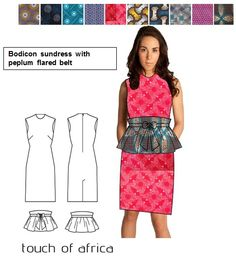Bodicon sundress with peplum flared belt