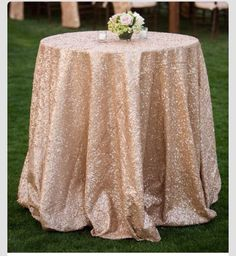 Nude/champagne glittery tablecloth