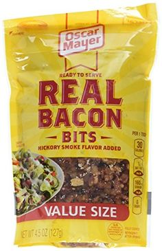 Real Bacon Bits, 4.5-Ounce Pouches (Pack of 6) Oscar Mayer https://www.amazon.com/dp/B003XV1T6C/ref=cm_sw_r_pi_dp_x_0oVAyb75627ZH
