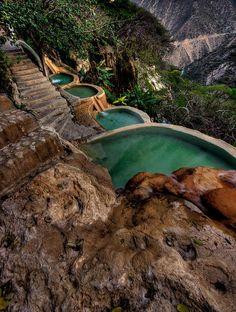 Hot water springs at Grutas de Tolantongo, Hidalgo, Mexico