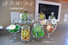 St. Patrick's Day candy bar #green