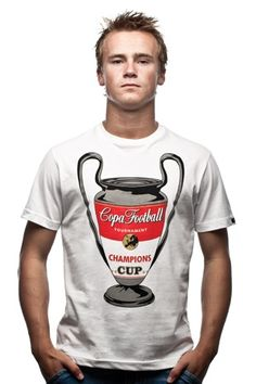 COPA Champions Cup T-shirt by Jurgen van Zachten from Locografix for COPA. COPA retro football shirts, T-shirts and more.