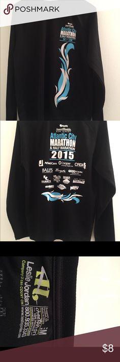 Atlantic City Men's Marathon Shirt Long Sleeve Dri Poly Shirt Leslie Jordan Tops Blouses