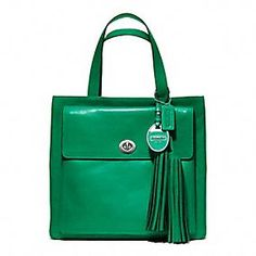 COACH Legacy American Icons Pocket Tote in Emerald Green. LOVE THIS COLOR!!