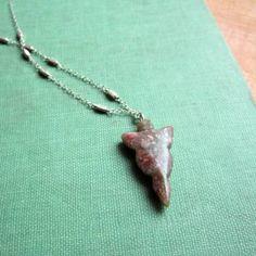 Arrow Necklace Native American Jewelry Tribal by jewelrybycarmal, $28.00
