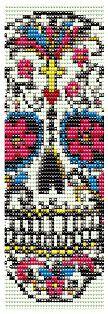 Loom Bracelet Pattern Instant Download Sugar Skull by MigotoChou