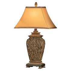 Blackburn Ornate Carved Table Lamp -