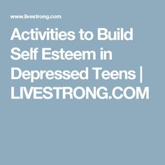 Build Self Esteem