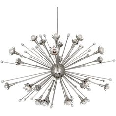 Modern Lighting | Giant Sputnik Chandelier Ceiling Lamp | Jonathan Adler I saw this light at JCPenney as part of their display.  Not for sale through them, but $2500 from the designer, Jonathan Adler!  It's way, way too expensive for me but still so awesome nonetheless!