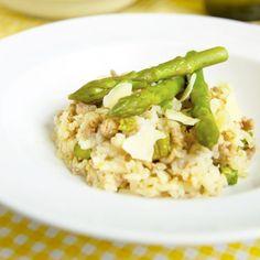 Fitness chřestové rizoto s krůtím masem - zdravý recept Bajola Risotto, Fitness, Ethnic Recipes, Lasagna