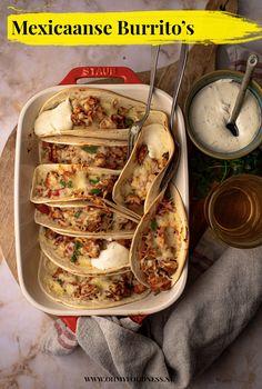 Zonder pakje: Mexicaanse Burrito's - OhMyFoodness