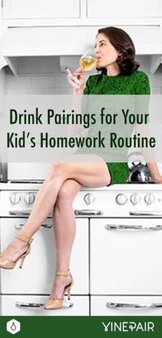 When we graduate from school, we're fooled into believing that we're done with homework. Enter motherhood. Read our drinks pairings for your kid's homework.