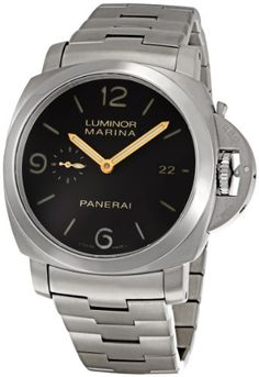 Panerai Men's PAM00352 Luminor Marina Brown Dial Watch: Watches: Amazon.com