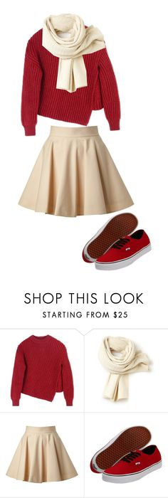 """Color Combo"" by carlafashion-246 ❤ liked on Polyvore featuring Sportmax, Lacoste, RED Valentino and Vans"