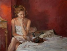 The romnatic paintings by Vicente Romero Redondo, spanish painter, was born in 1956 in Madrid. Spanish Painters, Spanish Artists, Madrid, Romantic Paintings, Pastel Portraits, Charles Bukowski, Beauty Art, Limited Edition Prints, Figure Painting