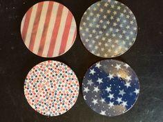 Set of 4 Patriotic coasters