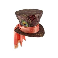 Unknown Disney Mad Hatter Hat ($26) ❤ liked on Polyvore featuring accessories, hats, halloween, alice in wonderland, disney hats, top hat, long hat, disney and oversized hat