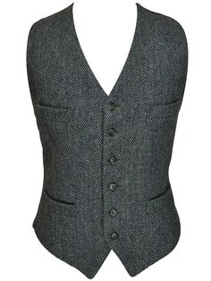 Classic Donegal Tweed Herringbone Blue and by RockItAgainVintage, $49.00