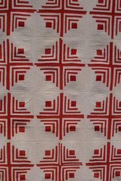 Antique red & white quilt