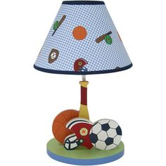 sport themed lamps.  Cute for when my grandson gets older