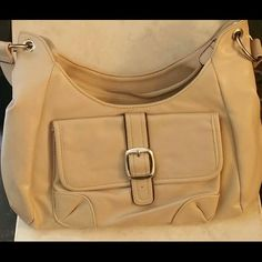 Taupe Shoulder bag in the Poshmark closet! My username is: thesilkcloset1. #shopmycloset #poshmark #fashion #shopping #style #forsale #Accessories
