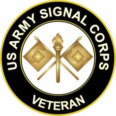US Army Veteran Signal Corps Sticker Decal