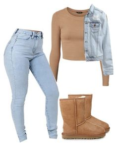Untitled #400 by prettygirlnunu ❤ liked on Polyvore featuring UGG Australia and H&M