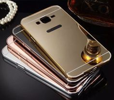 Cheap for samsung galaxy, Buy Quality case cover directly from China aluminium frame Suppliers: ZEALLION For Samsung Galaxy Case High quality Luxury electroplating mirror design Aluminum Frame + Hard PC case cover Samsung Galaxy J3 Case, Samsung Cases, Iphone Cases, Galaxy J5, Pc Cases, Or Rose, Mirror, Luxury, Frame