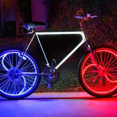 The Glowing Bike. Glowing in the dark bike. Seeking to make bike paths safer and more accessible in the evening and night hours,