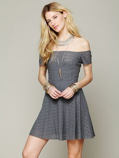 Free People Shimmy Shake Fit and Flare Dress at Free People Clothing Boutique