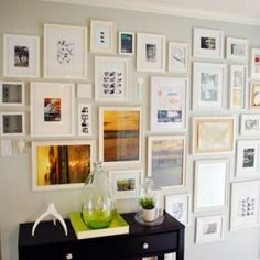 How to Make a Photo Wall {hanging a picture}