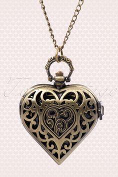 From Paris with Love! - Montre Coeur zakhorloge bronze ketting