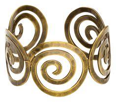 {Zulfa Spiral Cuff} #cuff #fairtrade #tradesofhope #style #gold #brass #spiral #bangle #hope #change #poverty #empower #women #business