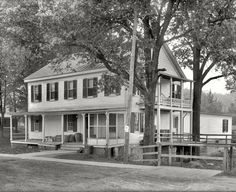 """Fairfax County, Virginia, circa 1926. """"Freeman House Store -- Vienna, Va."""" A historic structure that figured in the Civil War. Our title comes from a retail detail. National Photo Company Collection glass negative."""