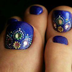 Really Cute Nails, Pretty Toe Nails, Cute Toe Nails, Hot Nails, Hair And Nails, Pedicure Designs, Pedicure Nail Art, Toe Nail Designs, Toe Nail Color