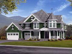 House Plan 87572 | Farmhouse  Victorian    Plan with 5680 Sq. Ft., 5 Bedrooms, 5 Bathrooms, 3 Car Garage