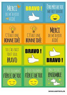 Cartes compliments Plus Education Positive, Positive Behavior, Kids Education, Encouragement, E Words, Classroom Language, School Motivation, Cycle 3, Teaching French